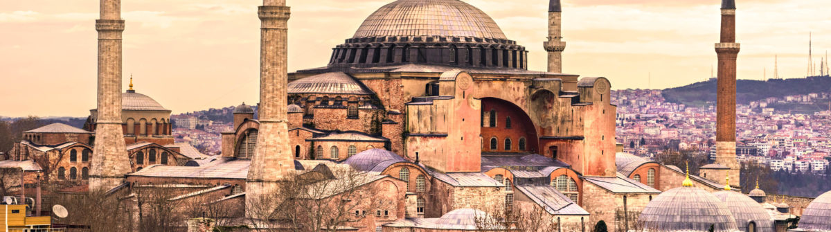 Hagia Sophia in Sultanahmet district, Istanbul. Turkey.