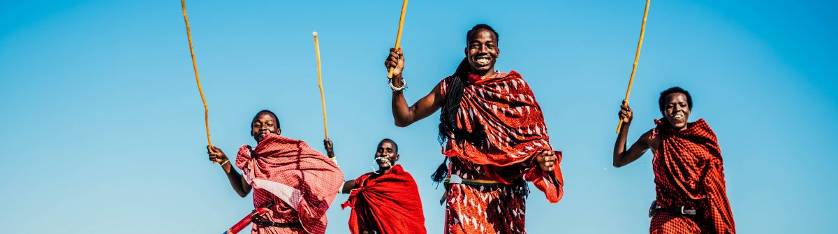 Masai People Running On The Beach.jpg