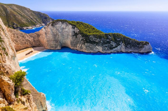 Beautiful Navagio Beach (Shipwreck beach) on Zakynthos Island, Greece shutterstock_310952513-2 x2000
