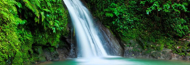 Cascades aux Ecrevisses waterfall, Guadeloupe