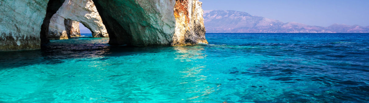Blue Caves in Mediteranean Sea