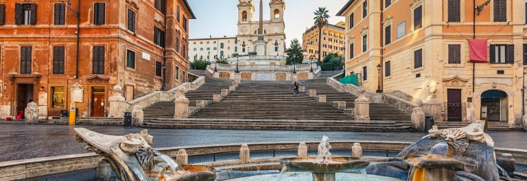 Spanish Steps at morning, Rome