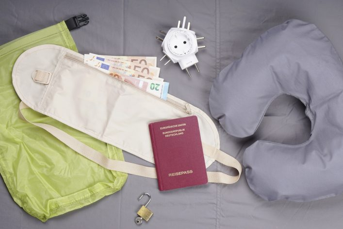 flat lay travel concept