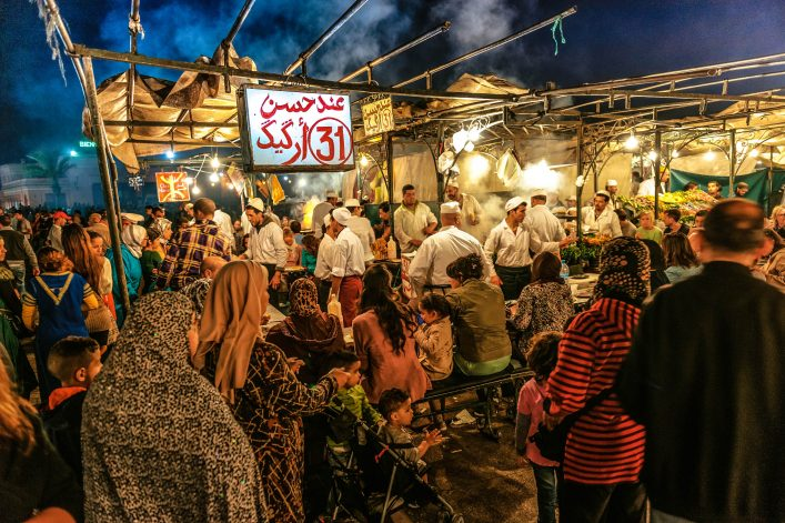 Marrakech, Djemma El Fan Square, Night Street Market, Morocco iStock_000078842143_Large-2