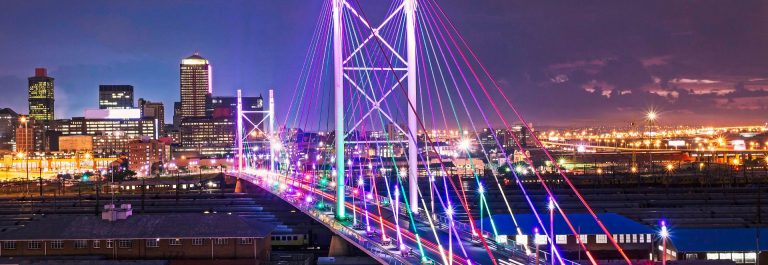 Nelson Mandela Bridge sunset