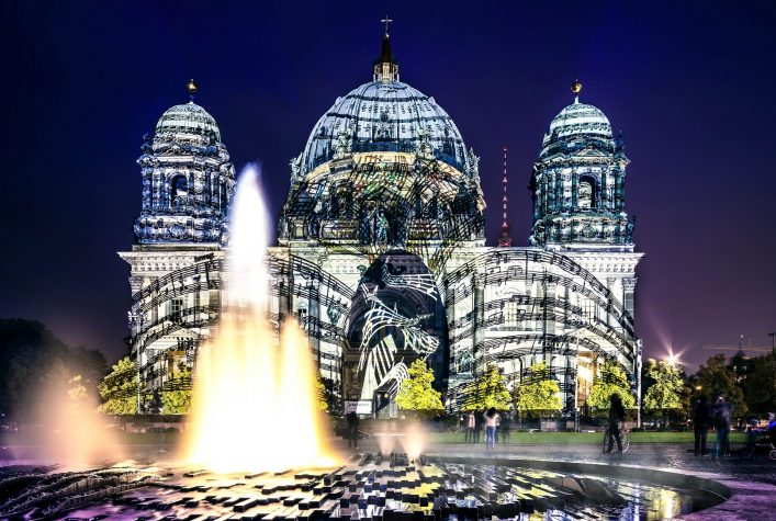 Berliner Dome illuminated during FESTIVAL OF LIGHTS shutterstock_215576323 EDITORIAL ONLY anyaivanova-2
