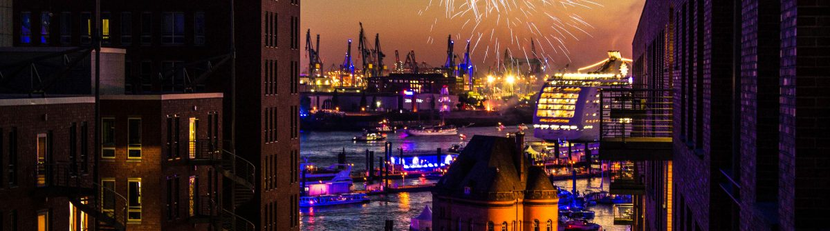 Hamburg harbor – firework
