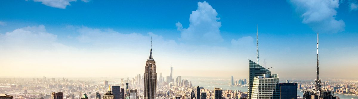 Empire State Building in New York and lower Manhattan