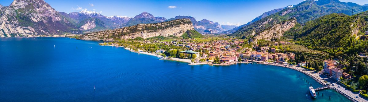 Aerial View of Torbole, Lake of Garda, Italy