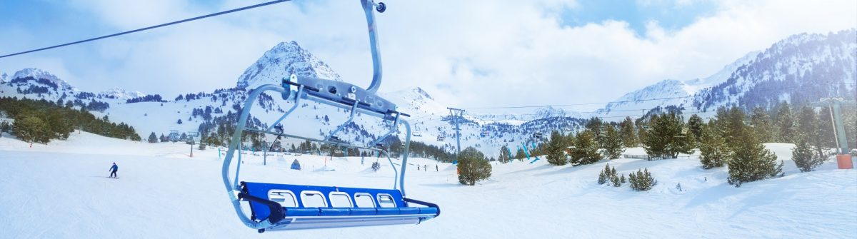 Ski lift seat over the pistes in mountains in Grandvalira Andorra_shutterstock_143413042