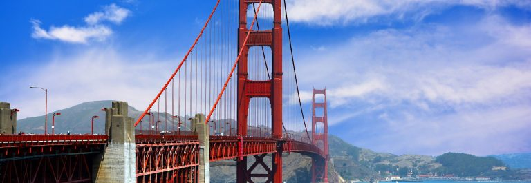 The Golden Gate Bridge in the Summertime in San Francisco, California USA_147526031