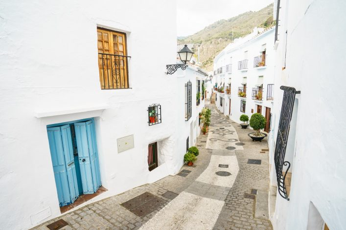 Typical white town in Andalusia, Spain_551842282
