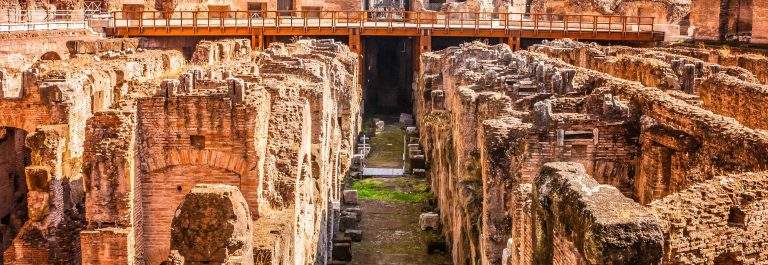 Rome, Italy – The Colosseum, collapsed Interior