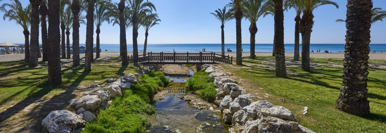 View of the beaches, Torremolinos, Costa Del Sol, Spain_446745544