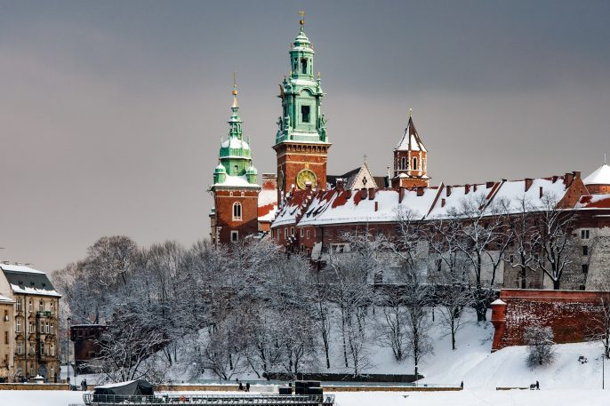 Wawel Cathedral Towers in Cracow, Poland