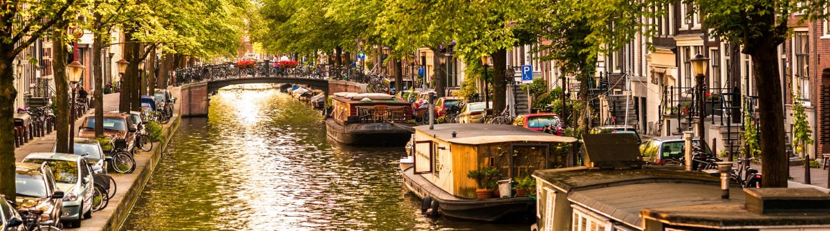 Houseboats on Amsterdam Canal