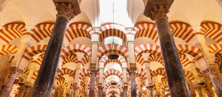 Interior of The Cathedral and former Great Mosque of Cordoba_137864276