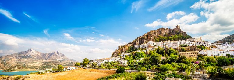 Zahara de la Sierra, beautiful town located in the Sierra de Gra