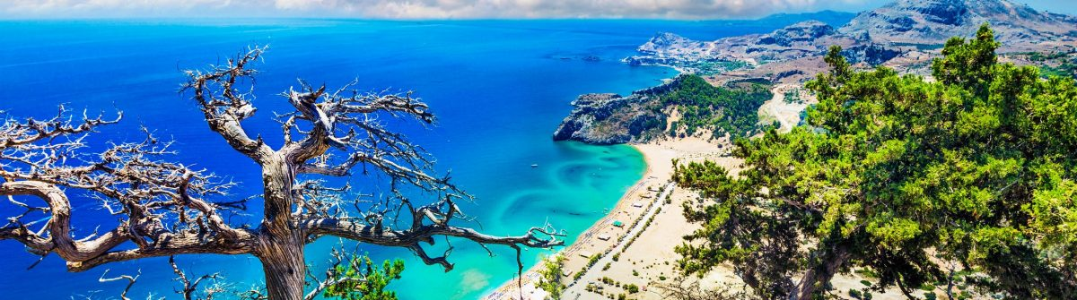 Impressive Beach Of Rhodes Island,Greece.