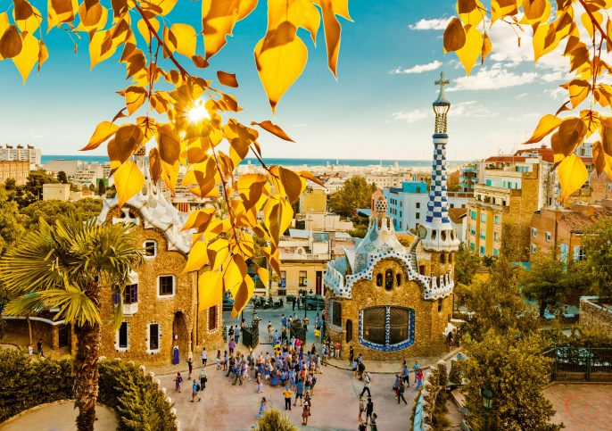 Park Guell in Barcelona, Spain shutterstock_211288180-2