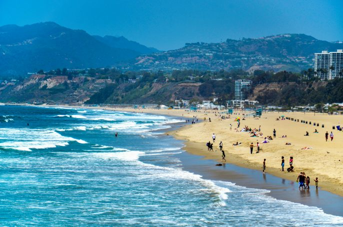 Santa Monica beach, Los Angeles, California, USA shutterstock_141663190-2