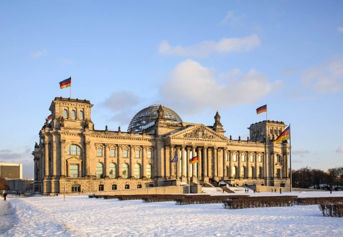 Reichstag building in Berlin. Germany
