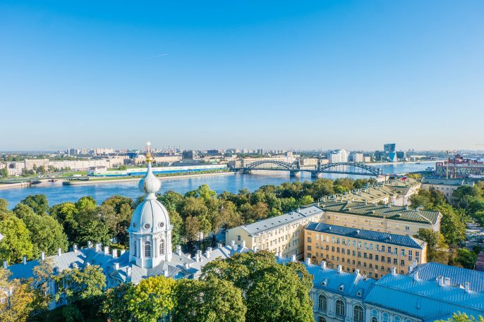 Saint Petersburg from the top of Smolny Cathedral