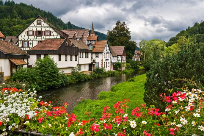 The village of schiltach in Black Forest, Germany