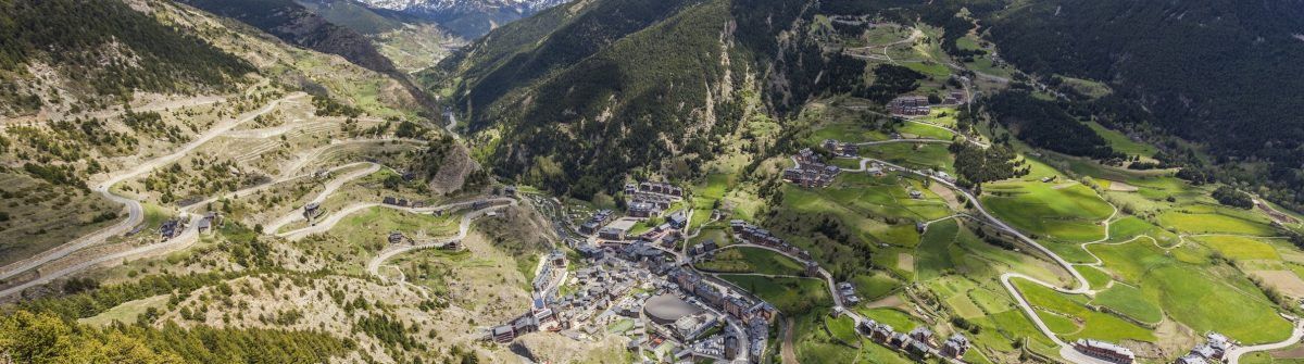 Panorama of Canillo – aerial view