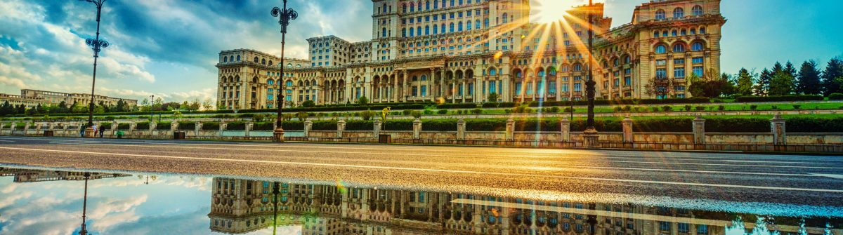 Parliament Palace in Bucharest, Romania the Largest building in Europe