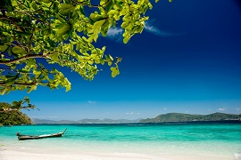 Scenic view of a beautiful beach