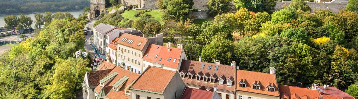 Bratislava – outlook form st. Martins cathedral to the castle