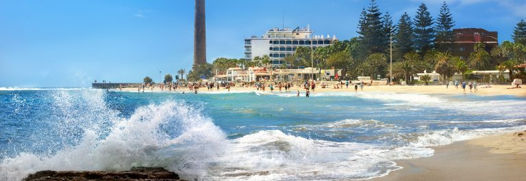 Seascape-with-lighthouse-and-Maspalomas-beach.-Gran-Canaria-Canary-Islands-Spain_shutterstock_304916834