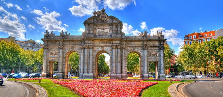 Colorful-image-of-Puerta-de-Alcala-Alcala-Gate-in-Madrid-Spain-in-HDR-high-dynamic-range_330096227