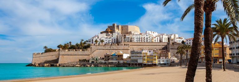 Peniscola-Castle-and-beach-in-Castellon-Valencian-community-of-spain-shutterstock_174368507-2