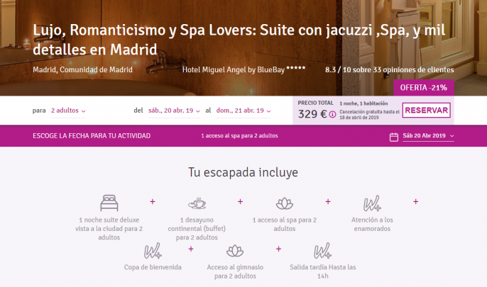 Suite en Madrid
