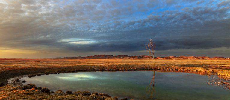 Gallocanta-small-lake-in-front-of-the-hide-to-photograph-cranes-shutterstock_125303507