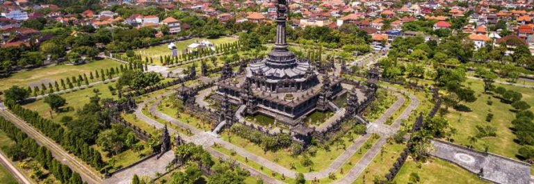 Aerial-view-of-Bajra-Sandhi-Monument-in-Denpasar-CIty_shutterstock_466628615_900x600