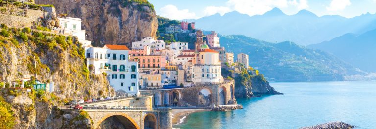 Morning-view-of-Amalfi-cityscape-on-coast-line-of-mediterranean-sea-Italy-shutterstock_759048709
