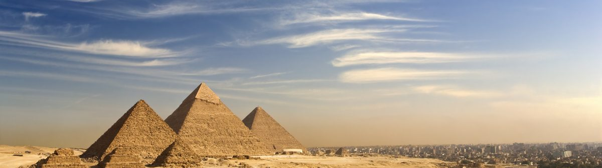 The Giza Plateau skyline