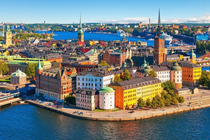 Scenic-summer-aerial-panorama-of-the-Old-Town-Gamla-Stan-in-Stockholm-Sweden_shutterstock_133005938