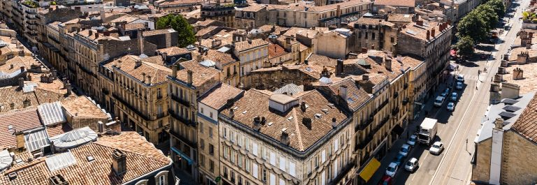 Bordeaux city roofscape