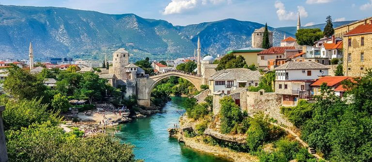 Mostar-Bosnia-and-Herzegovina.-View-of-the-city.shutterstock_705707587