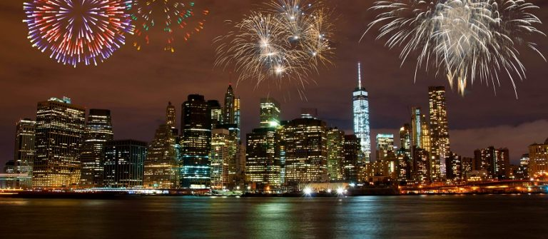 Fireworks in New York City