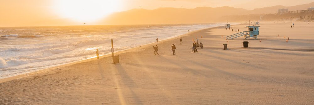 Santa-Monica-pier-at-sunset-Los-Angeles_shutterstock_649777696