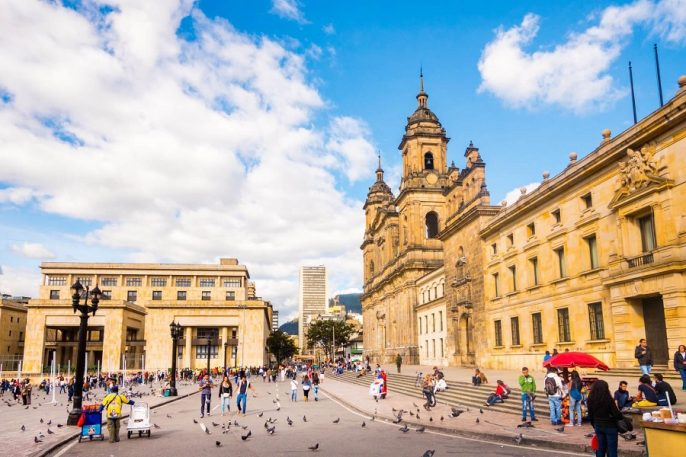 Primatial-Cathedral-of-Bogota-EDITORIAL-ONLY-holgs-iStock-516104896