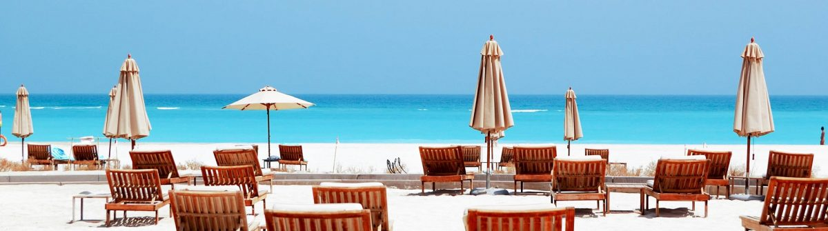 Beach of the luxury hotel, Abu Dhabi, UAE